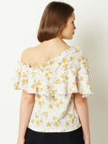 In My Heart One Shoulder Ruffled Top