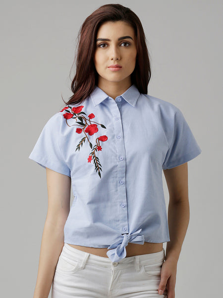 Made The Cut Floral Embroidered Shirt