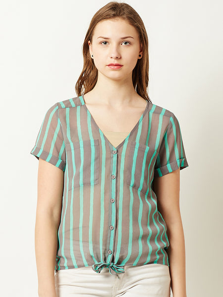 Uplifting Charmed Striped Top