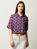 One More Night Boxy Shirt Crop Top