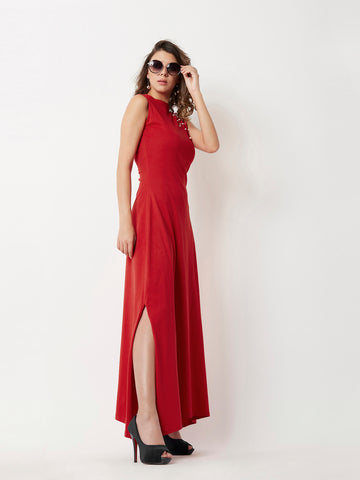Always remain neutral Pearl Maxi Dress
