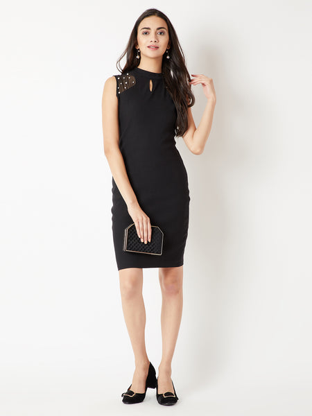 Stay The Course Pearl Bodycon Dress