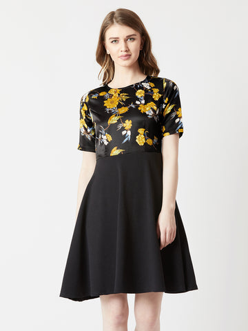 Belong With Me Floral Skater Dress