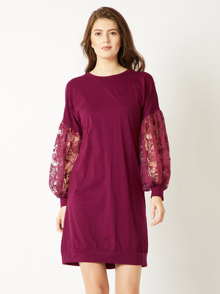 Ring On Me Lace Sleeve Dress