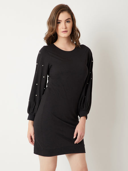 Meant To Be Pearl Sleeve Dress