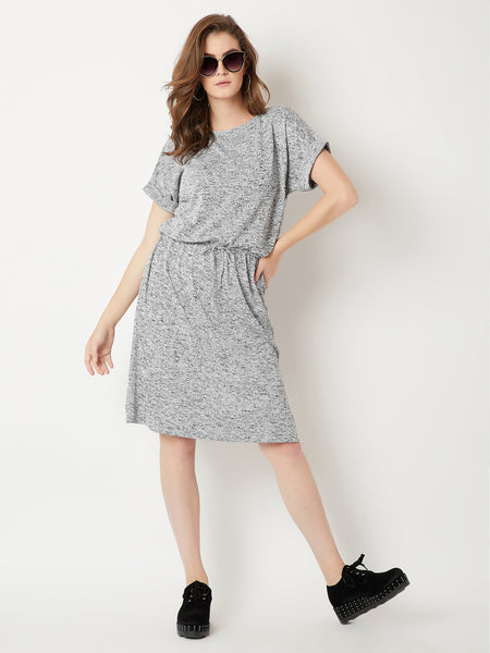 Getting Wavy Drawstring Dress