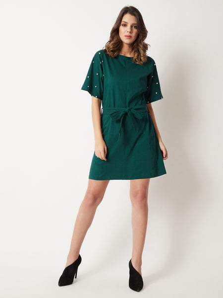 Drivetime Chill Pearl Sleeve Dress