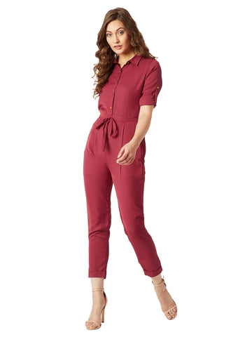 Cherish Your Love Tie-Up Jumpsuit