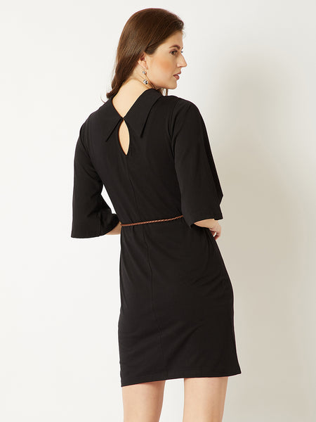 Darkness Shines Belted Dress