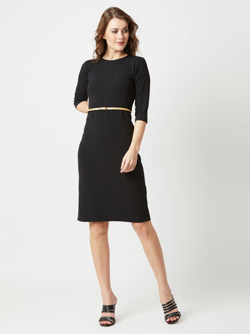 Pull Yourself Together Belted Midi Dress