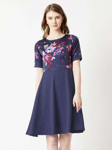 Lightened Hearts Floral Skater Dress