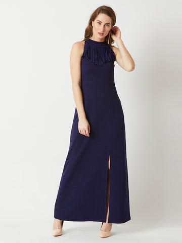 Funky Town Fringe Neck Maxi Dress