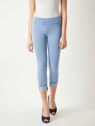 Back To Up Studded Hem Jeggings