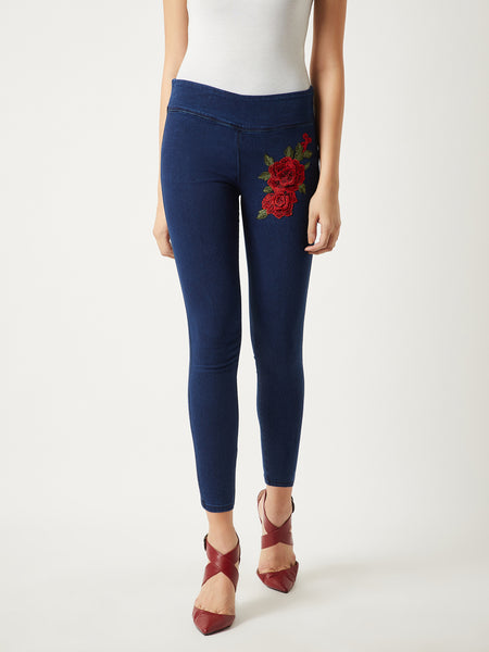 Borrowed Something Patch Skinny Jeggings