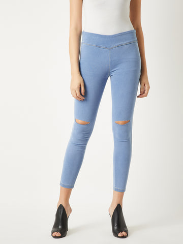 Part Of Me Denim Slit Jeggings