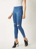 Whistle Me Denim Slit Jeggings