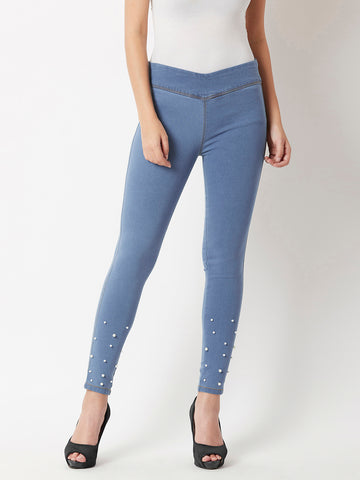 Taking Of Pearl Jeggings