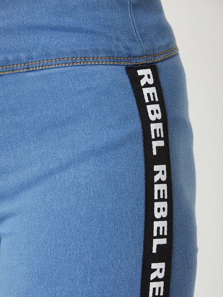 Rebel With A Cause Twill Jeggings