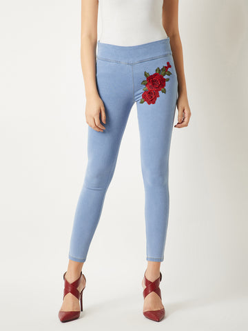 Young Love Patch Skinny Jeans