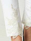 Beautiful Chaos Lace Patched Jeans