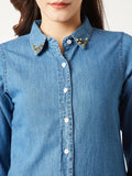 Bunny Teeth Spike Denim Shirt
