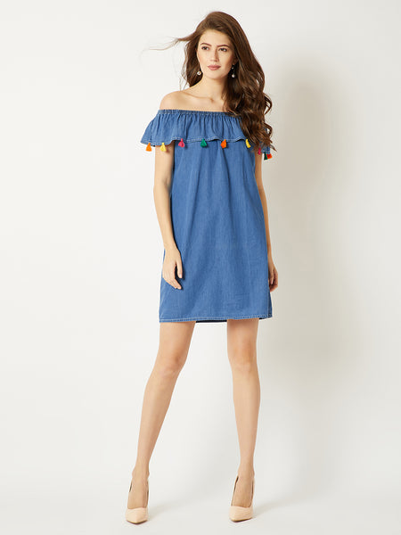 Heed The Call Denim Dress