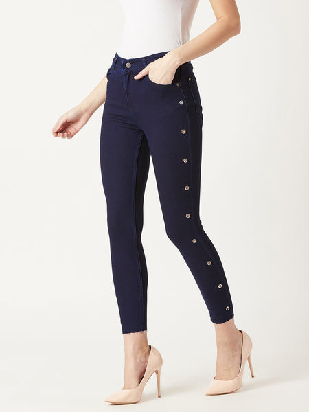Conquer From Within Cropped Jeans