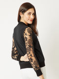 Question Me Lace Sleeve Jacket