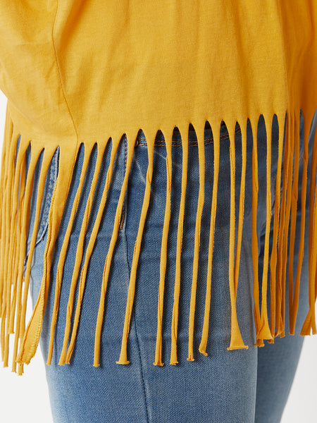 Dysfunctional Love Twill Fringe Shrug
