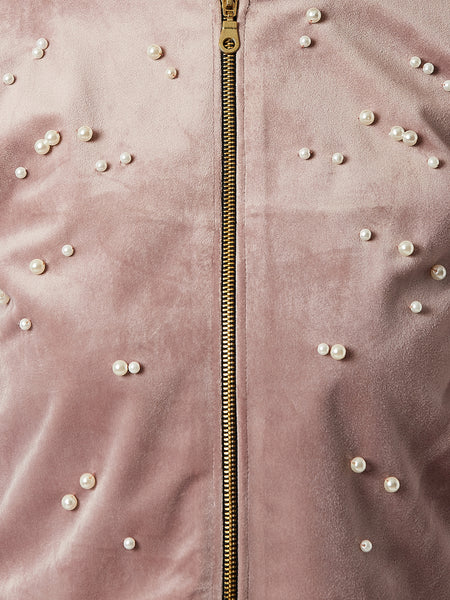 Rock And Roll Pearl Zipper Jacket