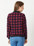 Happy Tunes Checkered Bomber Jacket