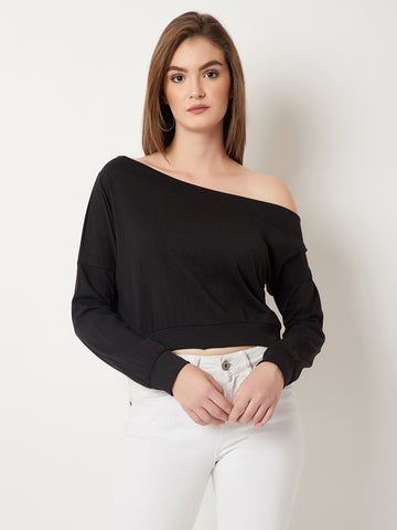 Rising High One Shoulder Sweatshirt
