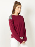 Brunching Away Sequins Sweatshirt