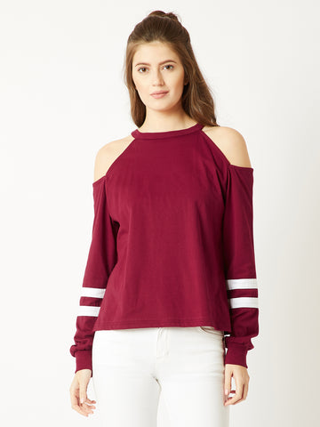 Lights Down Cold Shoulder Sweatshirt