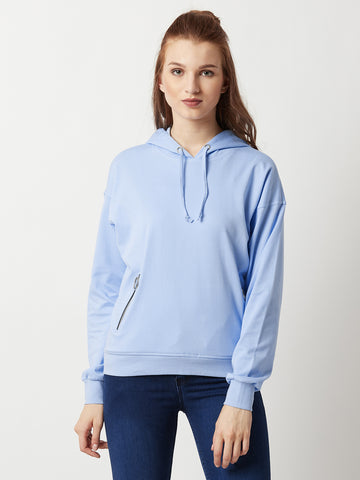 Never Give Up Zip Pocket Sweatshirt