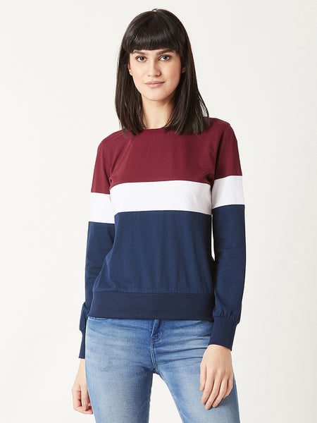 My Birthday Color Block Sweatshirt