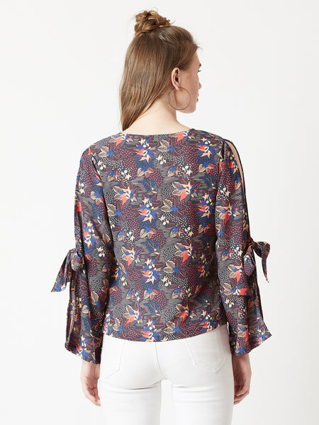 Burning On The Edge Knot Top