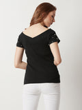 Lioness Charmed Pearl Ribbed Top