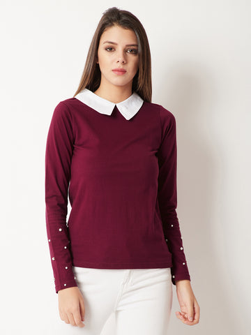 Simplicity Is Ultimate Pearl Sleeve Top