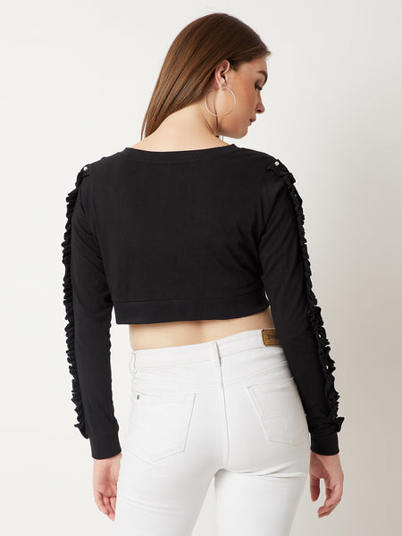You Better Ruffle Sleeve Pearl Top