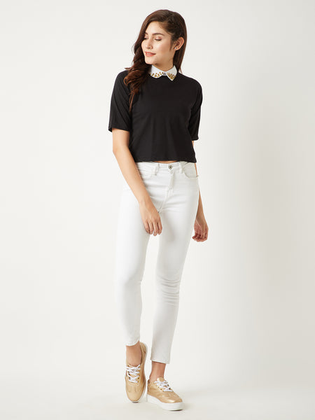 Spike Me Rivet Crop Top