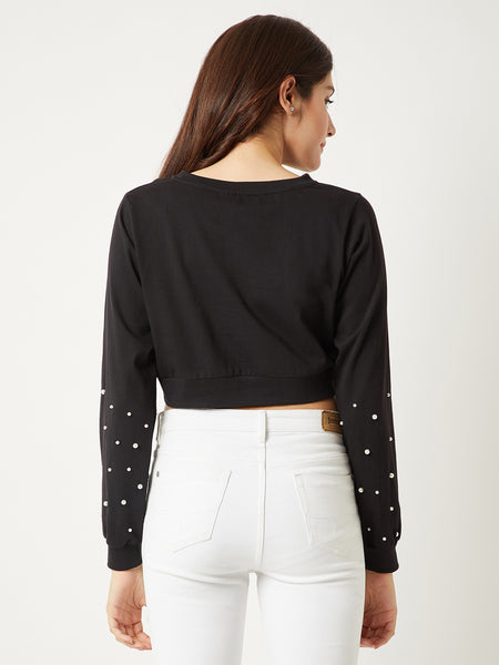 Magnetic Eyes Oversized Pearl Top