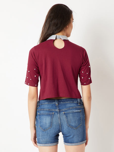 Always Add Value Pearl Crop Top