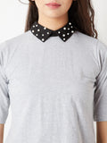 God Alone Pearl Collar Top