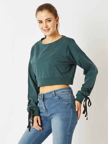 Smoking Guns Eyelet Sleeve Top