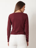 Rhythm And Soul Pearl Sleeve Top