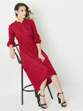 Find You Again Tie-Up Sleeve Dress