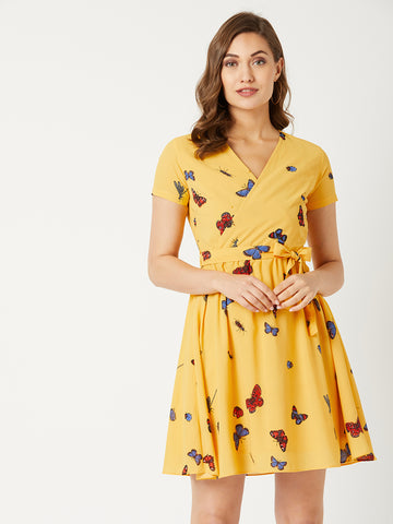 Shining Star Belted Midi Dress