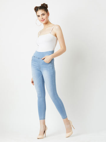 Clear sky Denim Jeggings