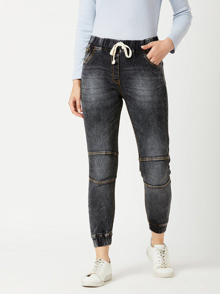 Walk With Beauty Denim Joggers